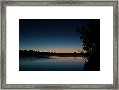 Black Friday Conjunction Framed Print by Odille Esmonde-Morgan