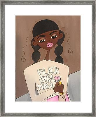 Black Girl Magic Framed Print