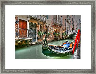 Black Gondola Framed Print