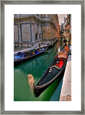 Black Gondola Framed Print