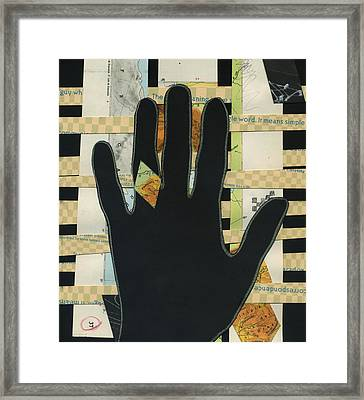 Black Hand Collage Framed Print
