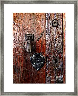 Black Hand Framed Print by Mexicolors Art Photography