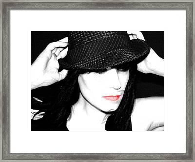 Black Hat Framed Print by Tbone Oliver