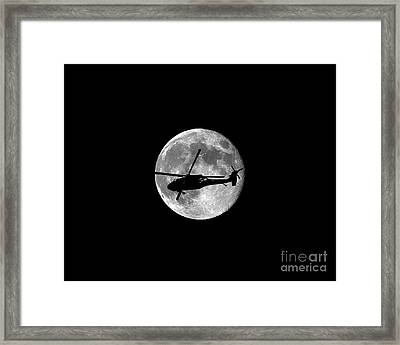 Black Hawk Moon .png Framed Print by Al Powell Photography USA