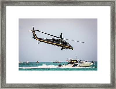 Black Hawk S70 Us Customs And Border Patrol Helicopter Framed Print