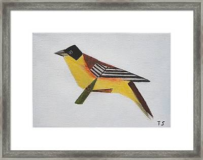 Black-headed Bunting Framed Print