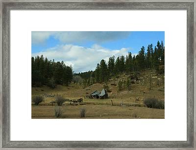 Black Hills Broken Down Cabin Framed Print by Christopher Kirby