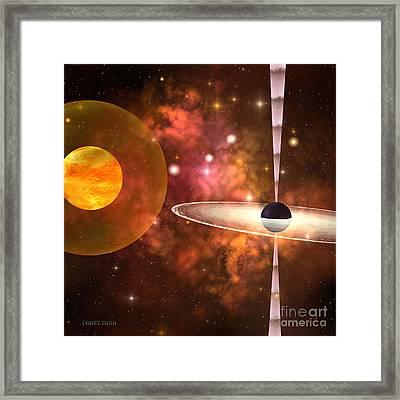 Black Hole Framed Print by Corey Ford