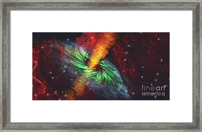 Black Hole In Cosmos Framed Print