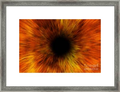 Black Hole Framed Print by Michal Boubin
