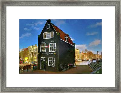 Framed Print featuring the photograph Black House In Jodenbreestraat #1. Amsterdam by Juan Carlos Ferro Duque