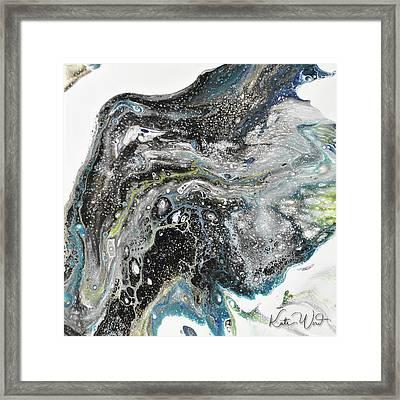 Black Ice 3 Framed Print