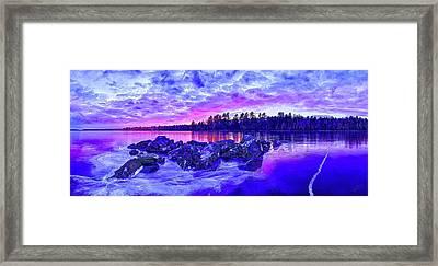 Black Ice At Twilight Framed Print