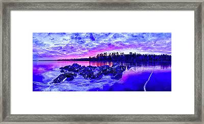 Black Ice At Twilight Framed Print by ABeautifulSky Photography