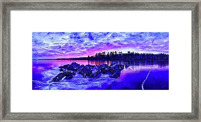Black Ice At Twilight Framed Print by Bill Caldwell -        ABeautifulSky Photography