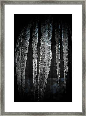Framed Print featuring the digital art Black Ice by Barbara S Nickerson