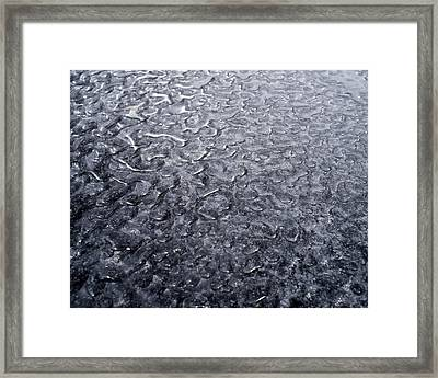 Black Ice Framed Print