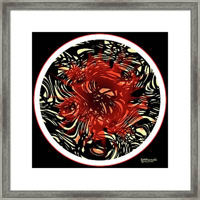 Black Ink Pen Madness Spaghetti Dreams Framed Print