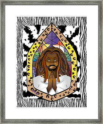 Black J C Framed Print