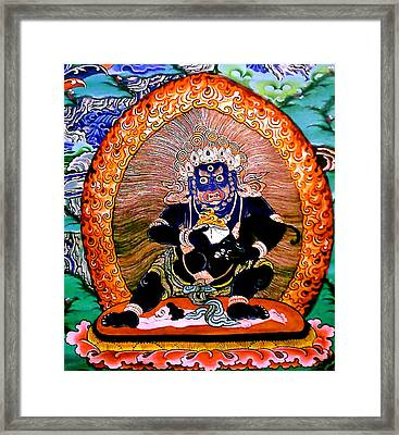 Black Jambhala  5 Framed Print by Lanjee Chee