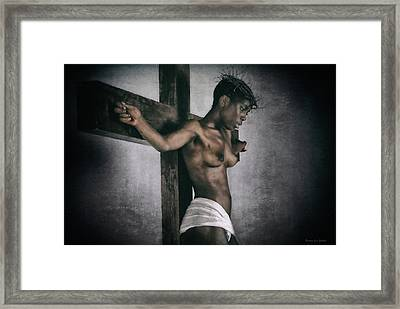 Black Jesus Painting Framed Print