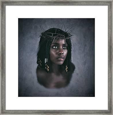 Black Jesus Portrait V Framed Print