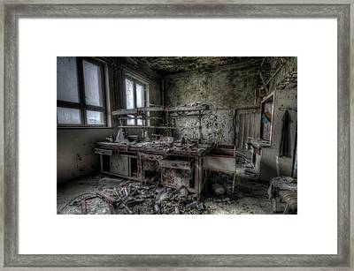 Framed Print featuring the digital art Black Lab by Nathan Wright
