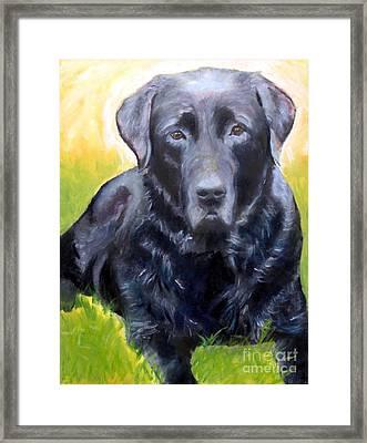 Black Lab Pet Portrait Framed Print