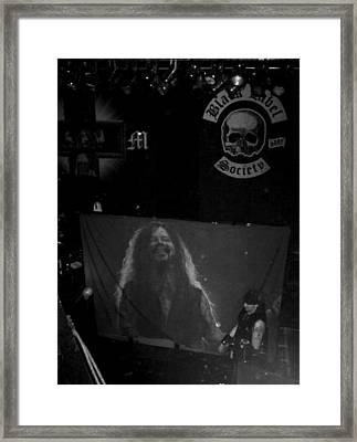 Black Label Dimebag Framed Print