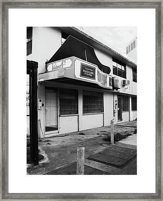 Black Label Lounge Framed Print by Anna Villarreal Garbis