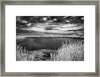 Black Lake On The Edge Framed Print