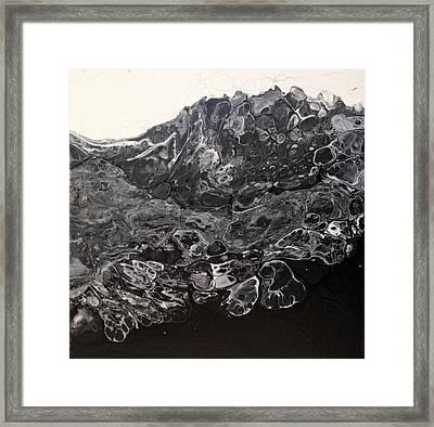Black Lava Framed Print by Ivy Stevens-Gupta