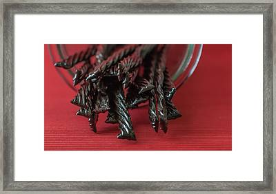 Black Licorice Framed Print