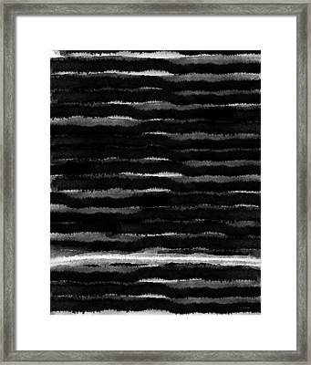 Black Lines- Art By Linda Woods Framed Print by Linda Woods