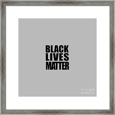 Black Lives Matter Tee Framed Print by Edward Fielding