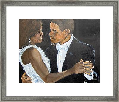 Framed Print featuring the painting Black Love Is Black Power by Saundra Johnson