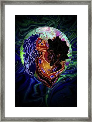Black Love Framed Print by Kia Kelliebrew