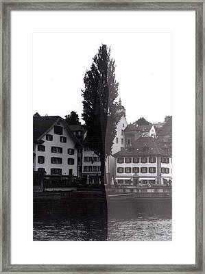 Black Lucerne Framed Print by Christian Eberli