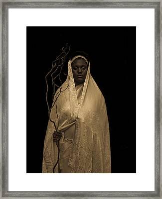 Black Madonna Framed Print by Fern Logan