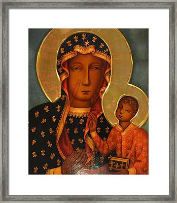 black Madonna Framed Print by Philip Ralley