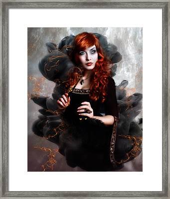 Black Magic Framed Print by Mary Hood