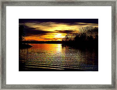 Black Magic On The Water Framed Print by FreeBird Skains