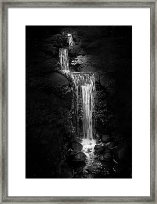 Black Magic Waterfall Framed Print by Peter Thoeny
