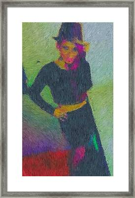 Black Magic Woman Framed Print by Mike La Muerte Giuliani