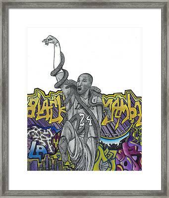 Black Mamba Framed Print by Steve Weber