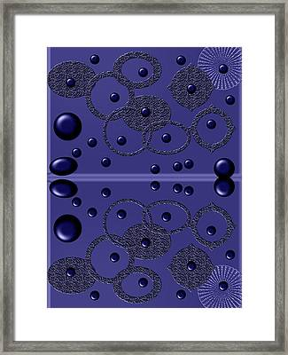 black marbles II Framed Print by Tina M Wenger