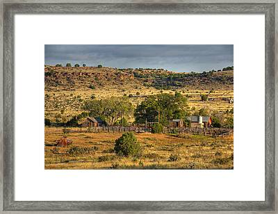 Framed Print featuring the photograph Black Mesa Ranch by Charles Warren