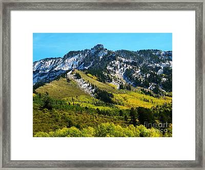 Black Mesa Rocky Peak In Autumn Framed Print