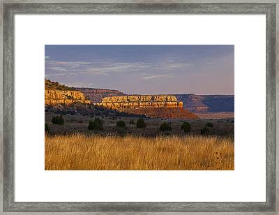 Framed Print featuring the photograph Black Mesa Sunrise by Charles Warren