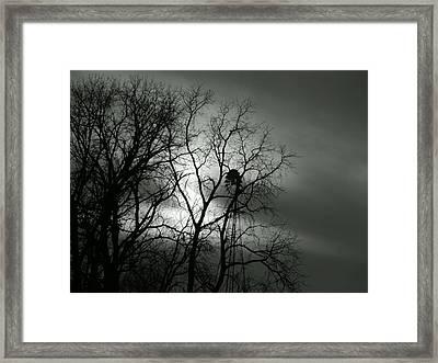 Black Mill Framed Print